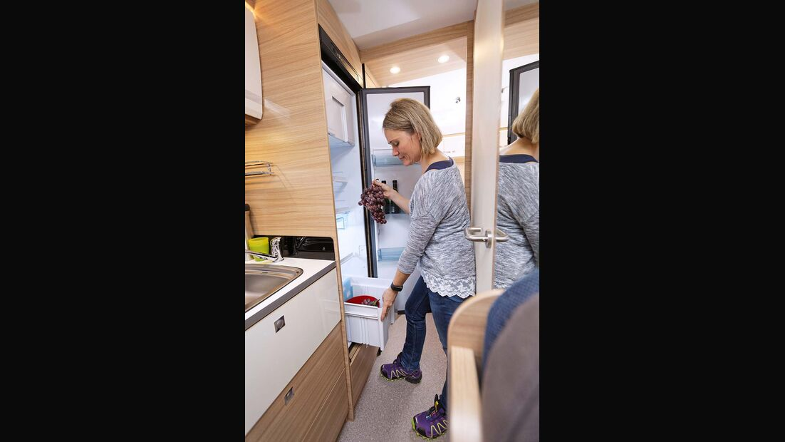 Dethleffs Globebus I Kühlschrank