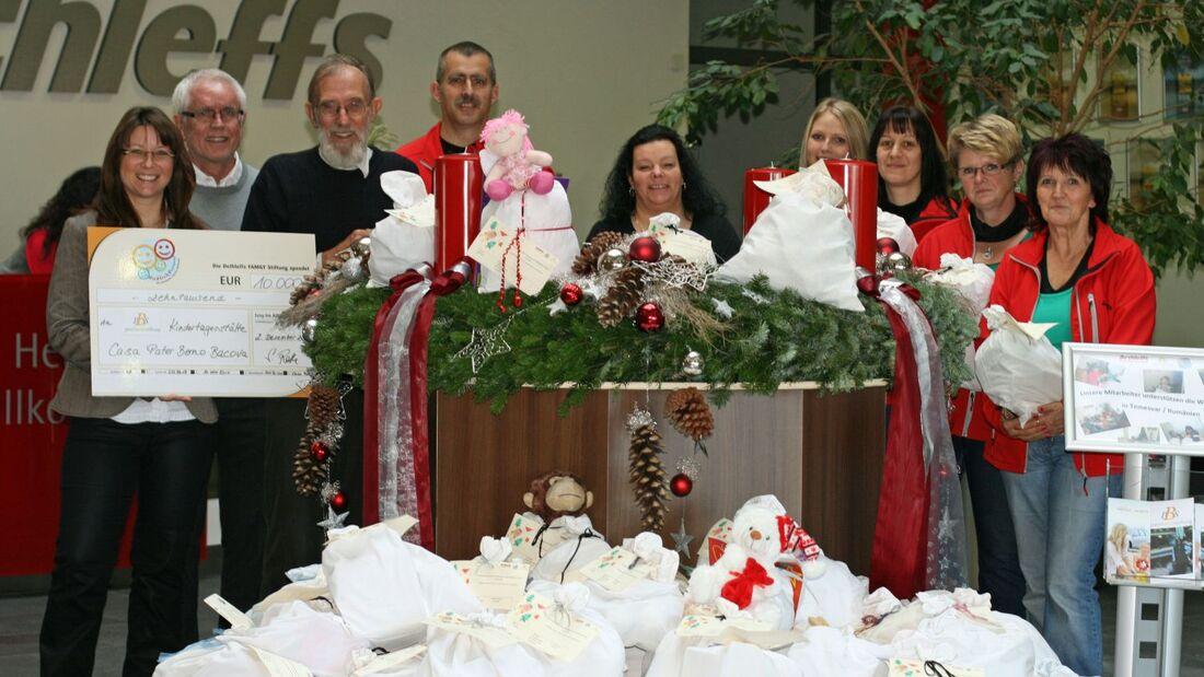 Dethleffs Mitarbeiter haben 180 Weihnachtssäckchen wurden für bedürftige Kinder in Rumänien gepackt.