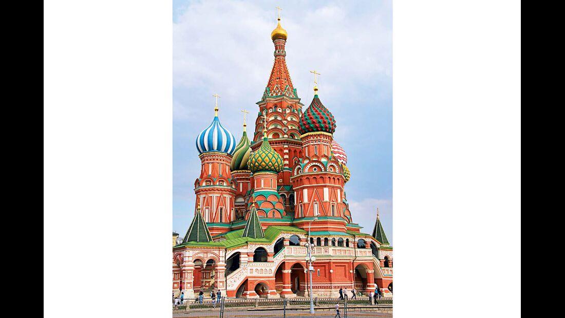 Die Basilius-Kathedrale in Moskau