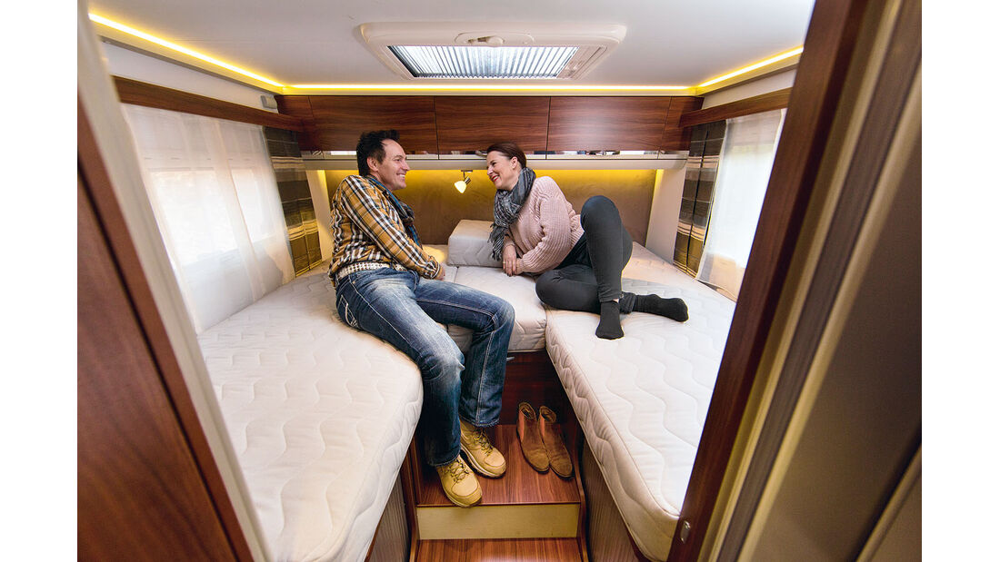 Die Betten gefallen mit gutem Zugang.