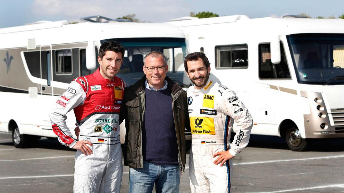 Die DTM-Fahrer Mike Rockenfeller und Timo Glock übernahmen auf dem Hockenheimring jeweil einen Flair von Niesmann+Bischoff.