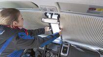 Die Fahrerhausverdunkelung schützt vor neugierigen Blicken und Sonneneinstrahlung