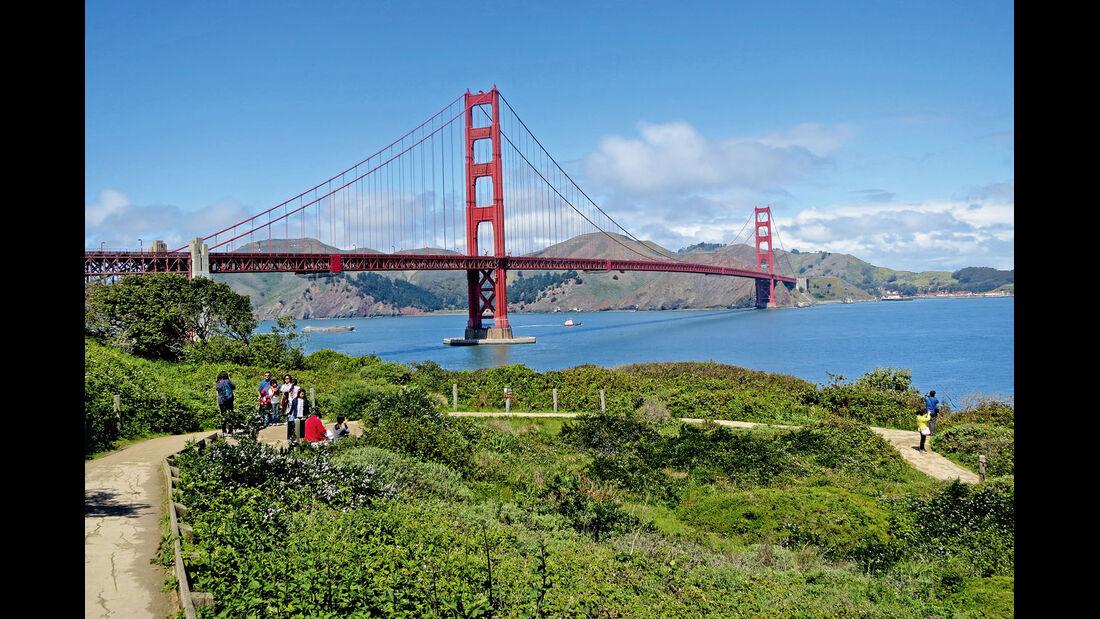 Die Golden Gate Bridge muss man einfach gesehen haben.