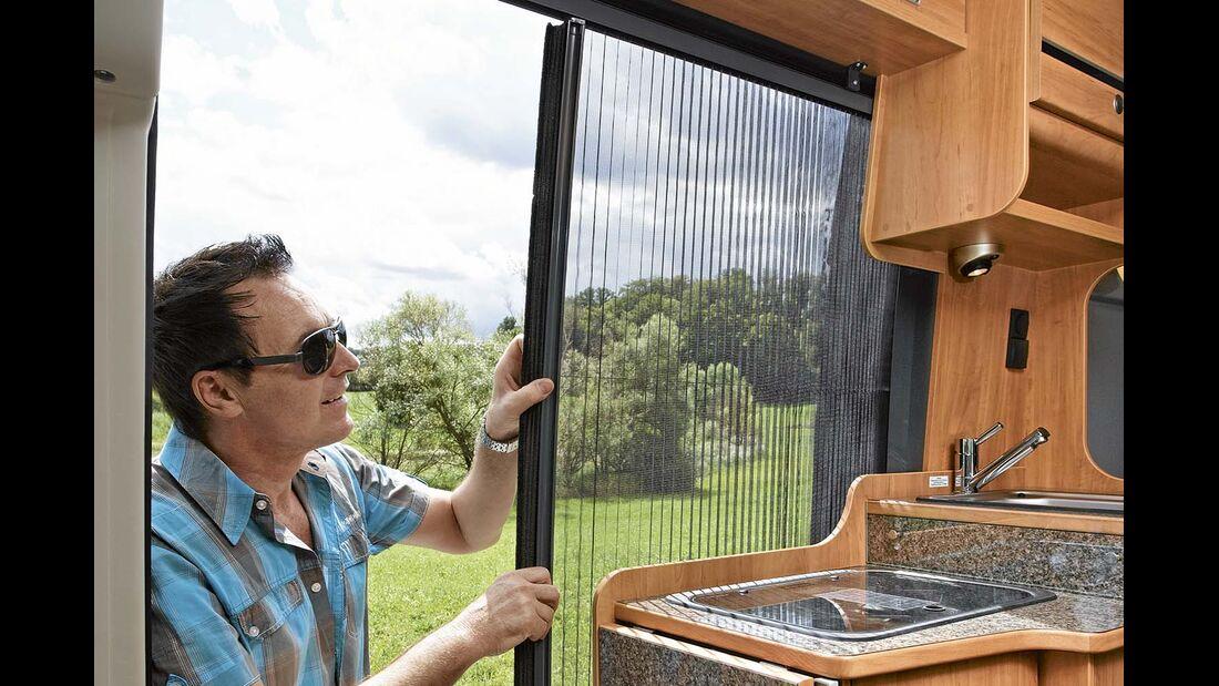 Die Insektenschutztür ist eines der praktischsten Ausstattungsmerkmale