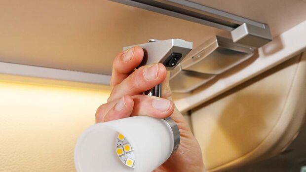Die LED-Leselampen sind hell und flexibel