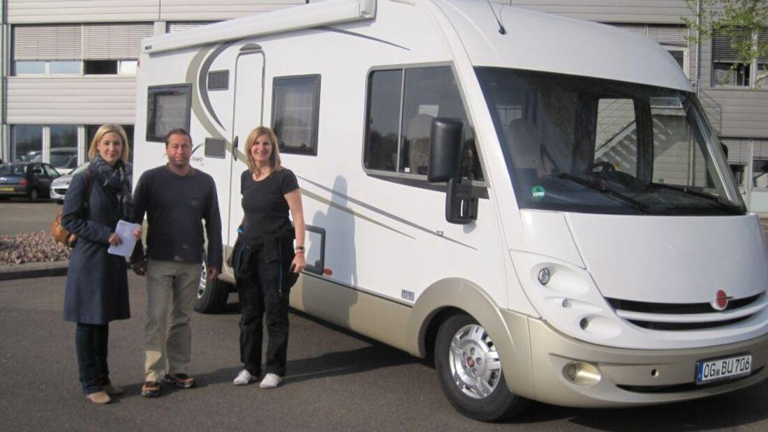 Die Landesschau Mobil des SWR war zu Gast im Stammwerk des Herstellers von Reisemobilen und Wohnwagen