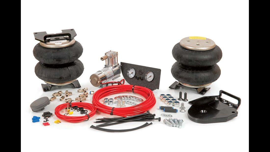Die Luftfedersysteme von Linnepe machen eine Auflastung des Ducato Maxi auf bis zu 4,4 Tonnen Gesamtgewicht möglich.