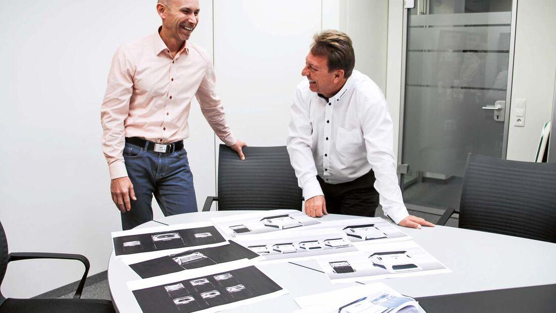 Die Morel-Macher Jochen Reimann und Reinhard Löhner haben gut lachen.