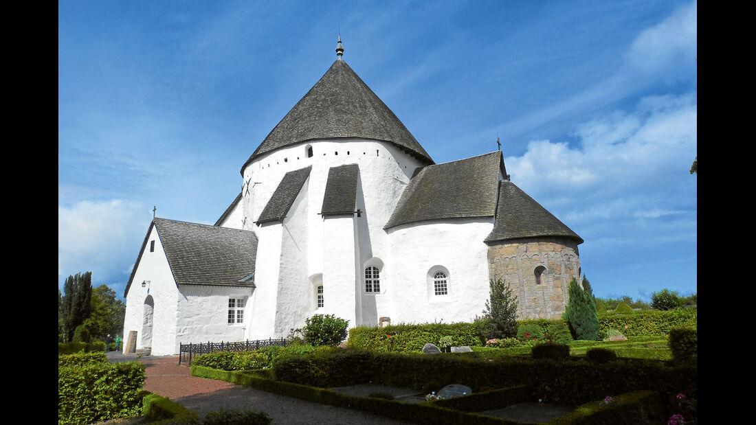 Die Osterlarskirche auf Bornholm.