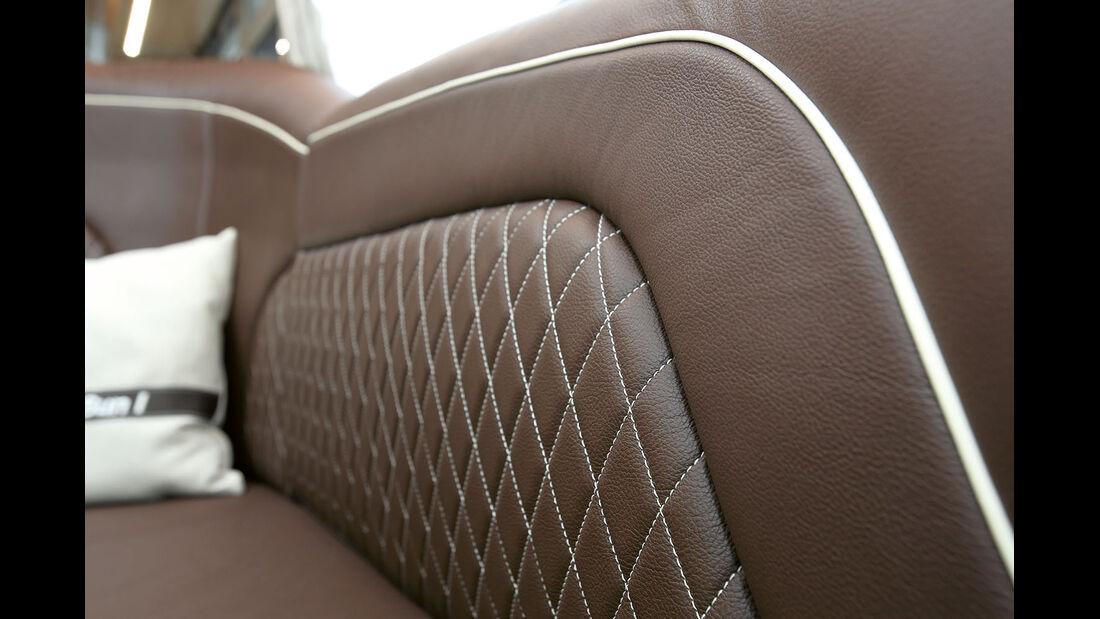Die Polsternaehte sind von Bentley inspiriert