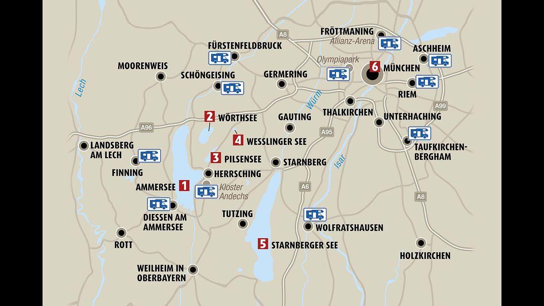 Die Region München im Überblick