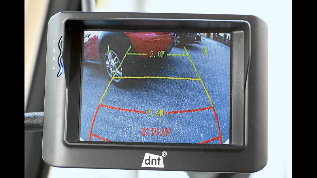Die Skala der RFK Integro zeigt die Entfernung zu Hindernissen an.
