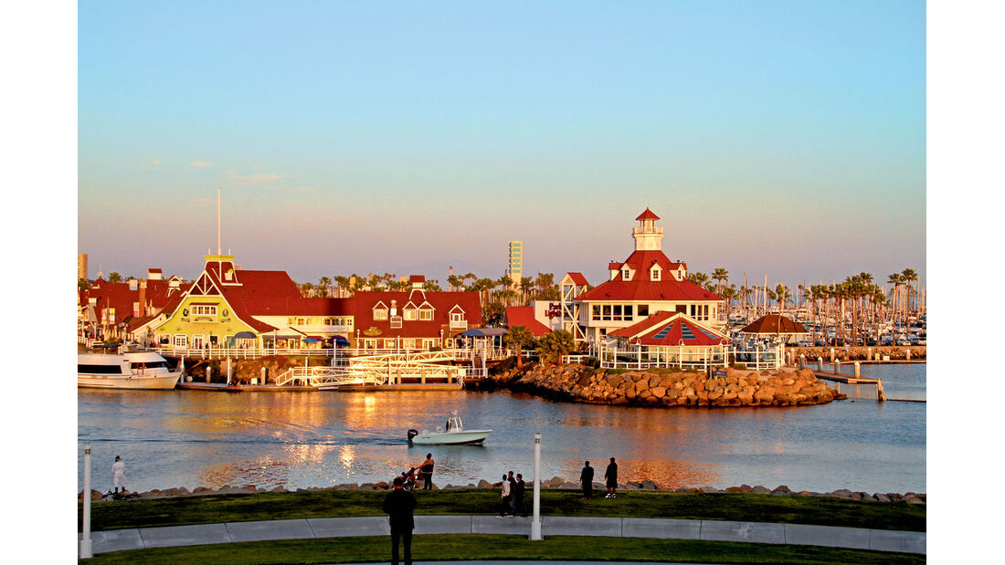 Die Stadt Long Beach in Kalifornien.