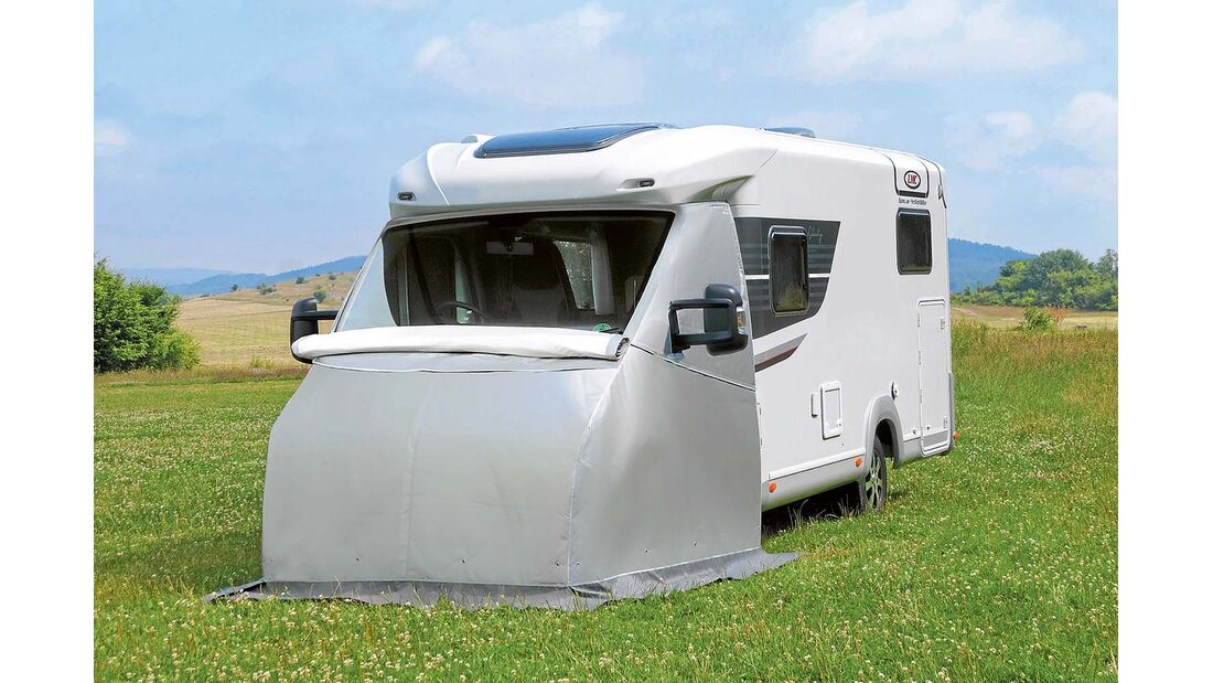 Die Thermohaube von Wigo-Zelte ist vielseitig verstellbar.