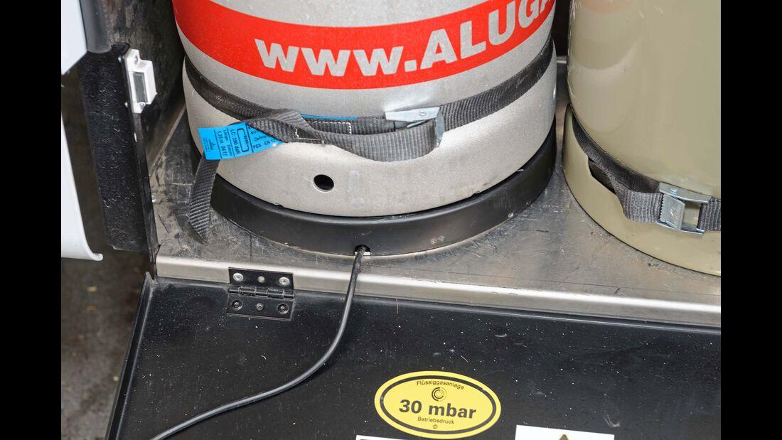 Die Wülste bezeichnet der Hersteller als Aufstellringe. Sie sorgen dafür, dass die Gasflasche mittig in optimaler Position sitzt.