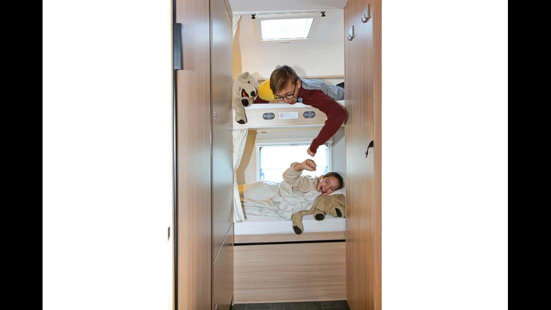 Die beiden Schlafhöhlen bieten Kindern viel Privatsphäre