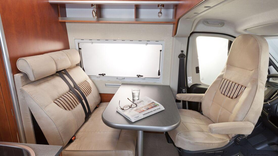 Die hessische Reisemobilmanufaktur führt in allen Modellen zur Saison 2014 ein neues Sitzkonzept ein.