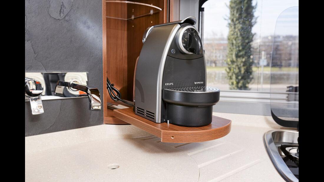 Die optionale Kaffeemaschine.