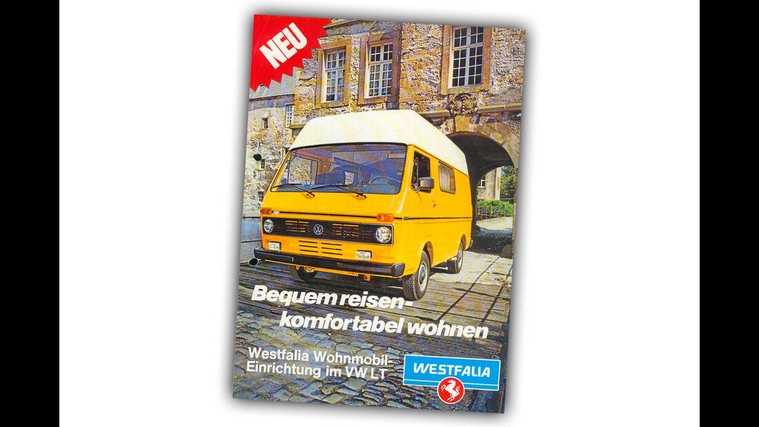 """Die runden Scheinwerfer kennzeichnen die frühen LT: Im Prospekt von 1980 wird der Hedin als """"schnelles Fahrzeug"""" beworben."""