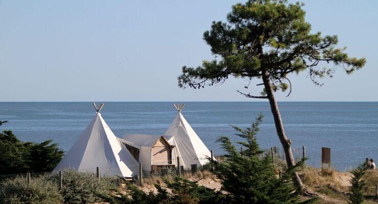 Domaine Les Moulins auf der Insel Noirmoutier in Frankreich, hat 2013 überwiegend Gäste aus dem Ausland angezogen.