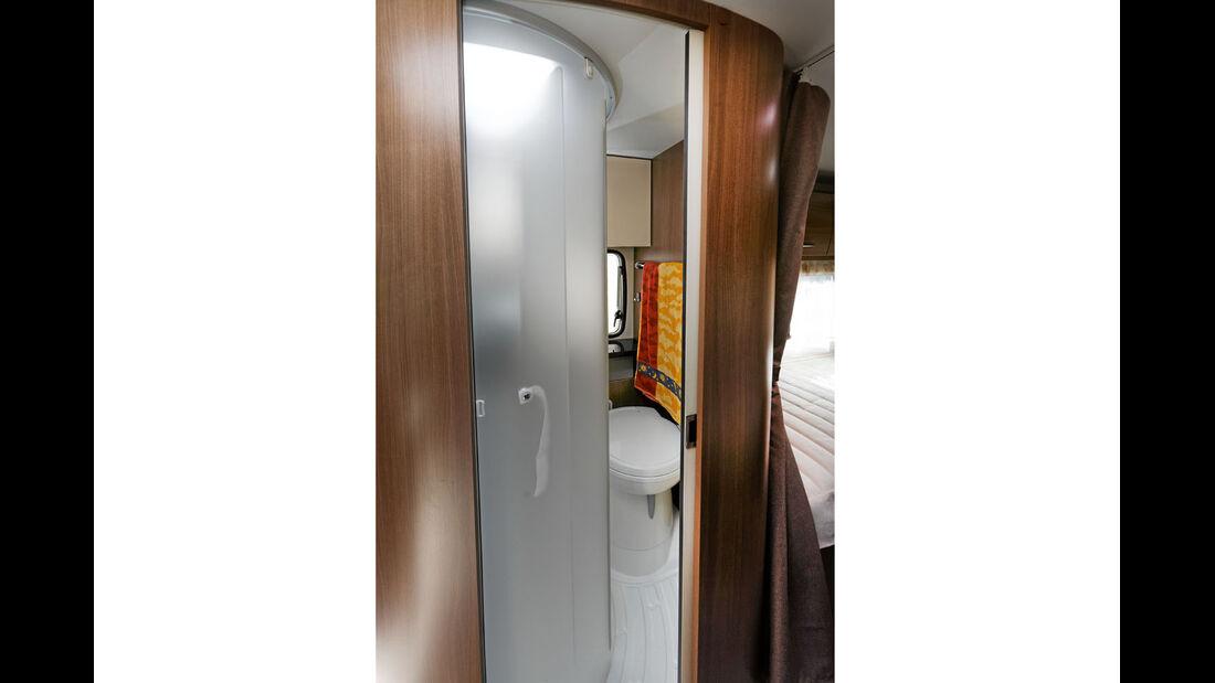 Dusche und Toilette im Chausson