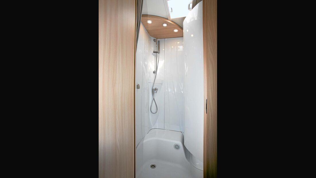 Duschkabine beim Bürstner Travel Van t 590 G