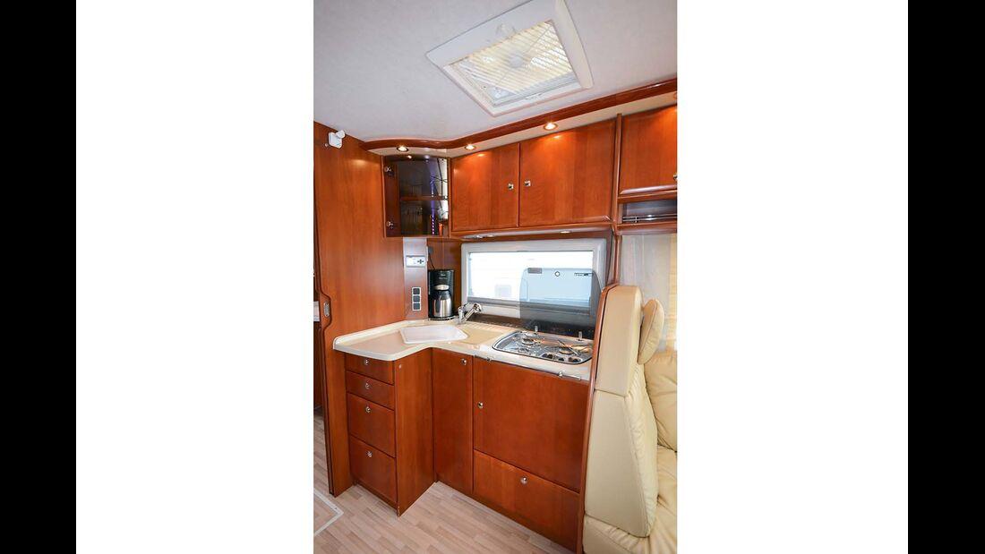 Ebenso schick wie robust ist die Kücheneinrichtung des Concorde.