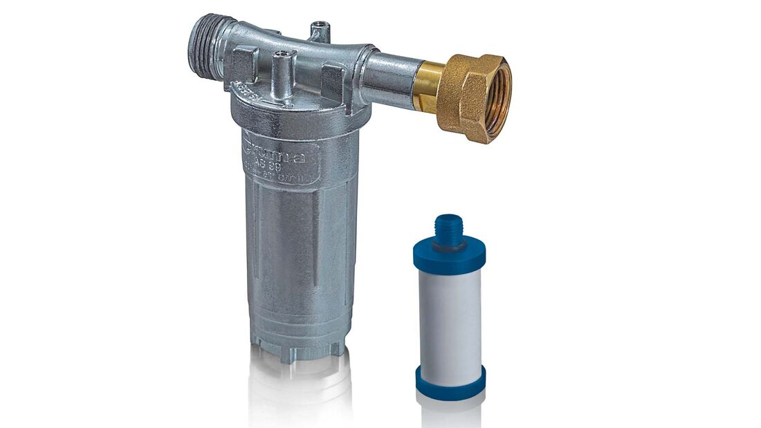 Ein Gasfilter hält Fremdstoffe von der Gasanlage fern.