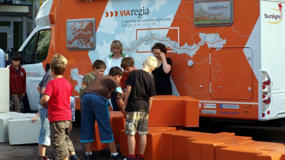 """Ein Sunlight T 65 unterstützt als rollender Botschafter die 3. Sächsischen Landesausstellung """"Via Regia"""""""