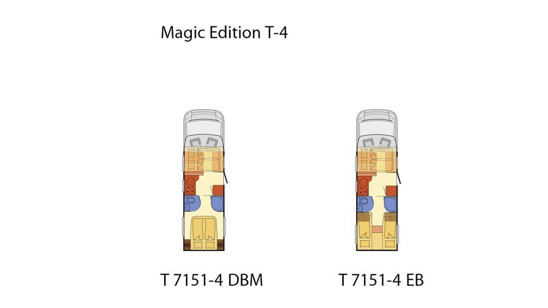 Ein Teilintegrierter mit Hubbett rundet das Portfolio der Magic Edition ab. Es stehen zwei Grundrisse zur Verfügung.