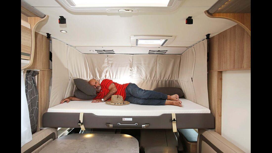 Ein angenehmes Nachtlager ist das Hubbett