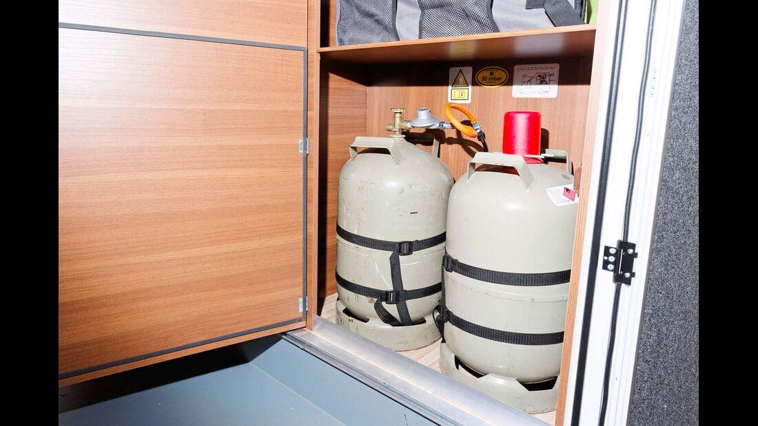 Ein umständlicher Zugriff auf die Gasflaschen wurde schon oft kritisiert.