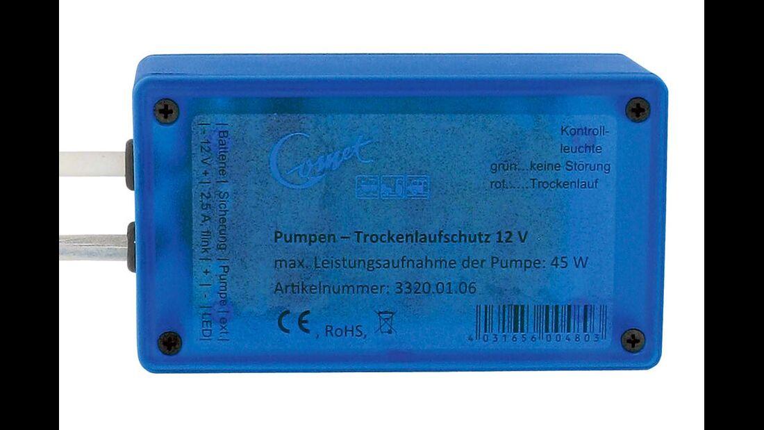 Eine Elektronik kann Tauchpumpen vor Trockenlauf schützen.
