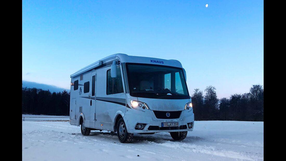 Eine harte Prüfung für den Knaus Van I 600 MG