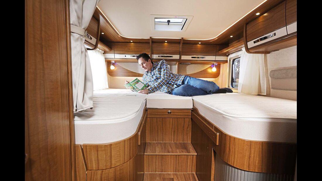 Einzelbetten beim Hymer B 678 Premium Line