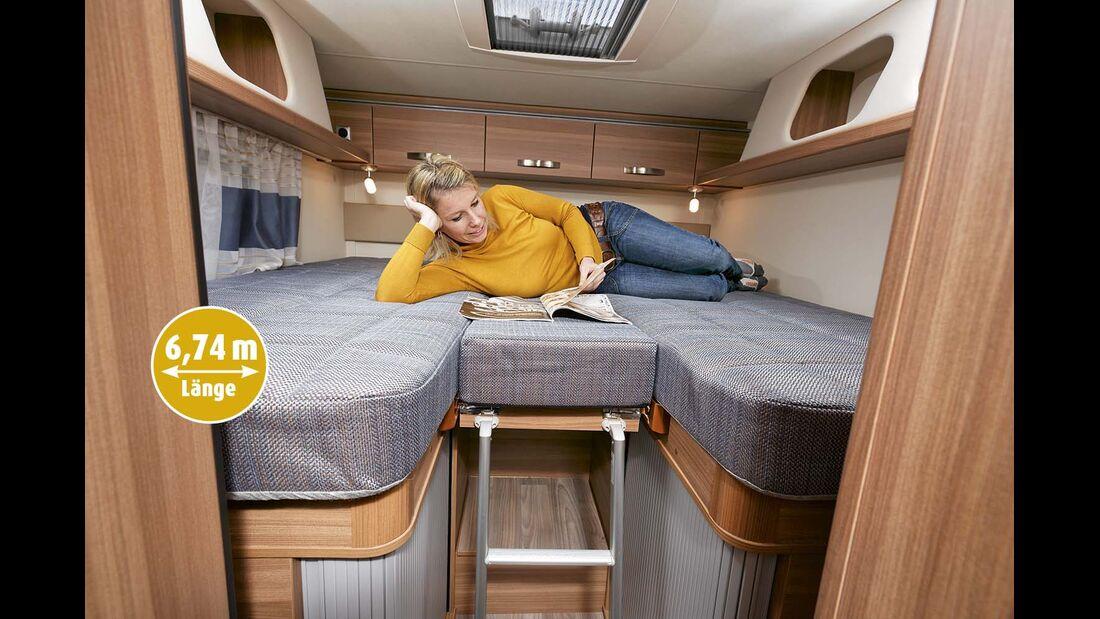 Einzelbetten beim Weinsberg Cara Compact 600 MEG