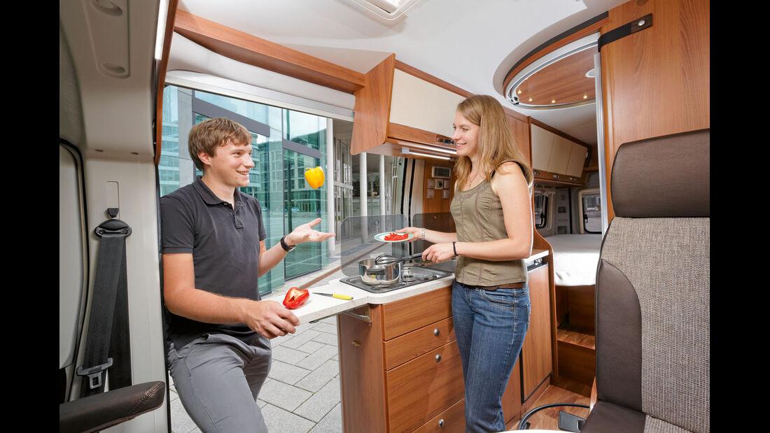 Einzeltest: Van-Tourer 630, Küche