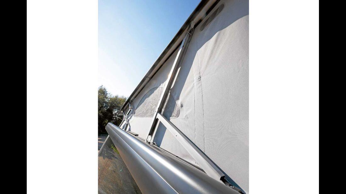 Elektrohydraulisches Klappdach ist Serie beim VW California und arbeitet hörbar