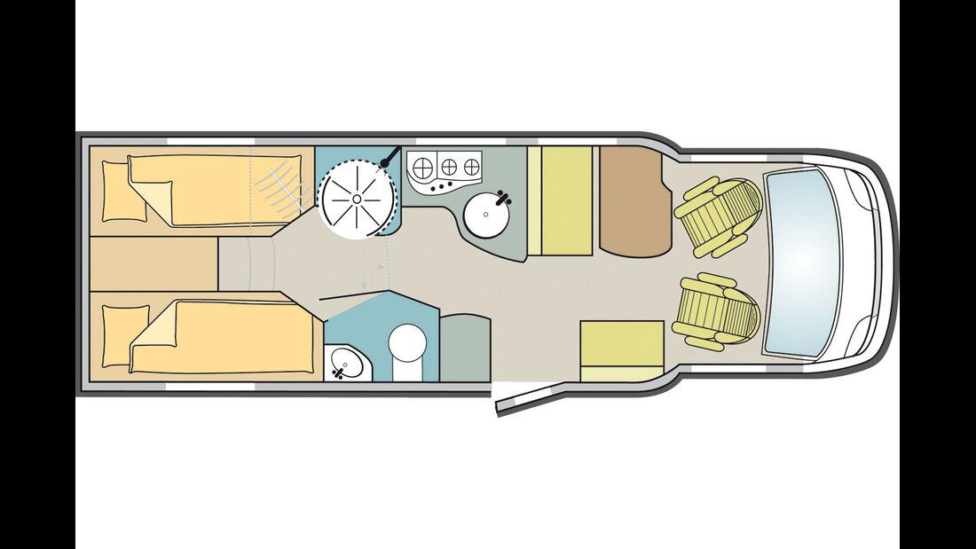 Es sind kompaktere Einzelbett-Grundrisse verfuegbar