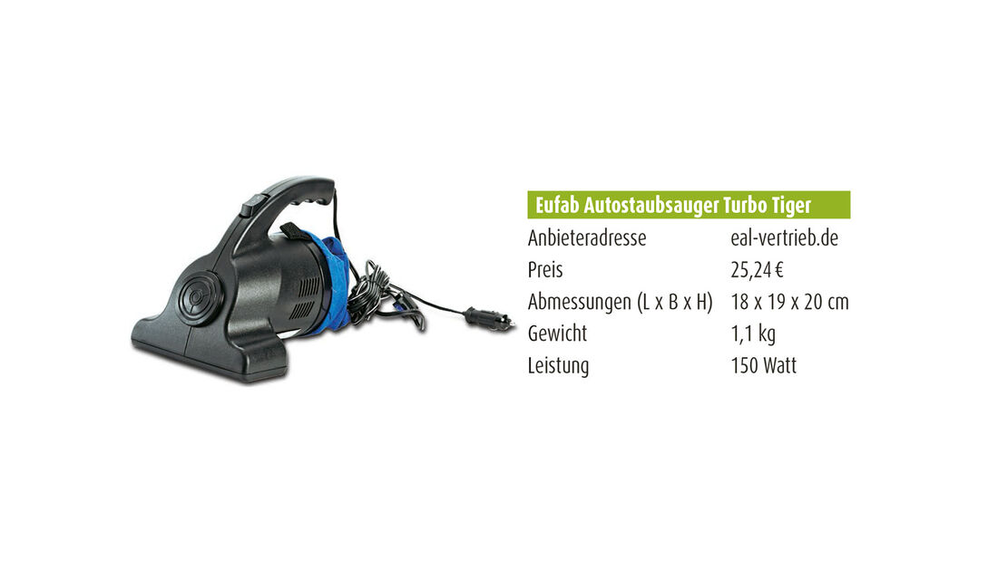 Eufab Autostaubsauger Turbo Tiger