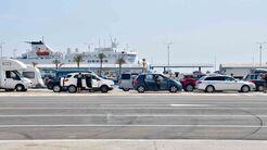 Fähre, Split, Fährhafen, Wohnmobil, Urlaub, Grenze