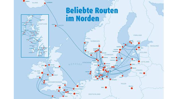 Fährverbindungen im Norden