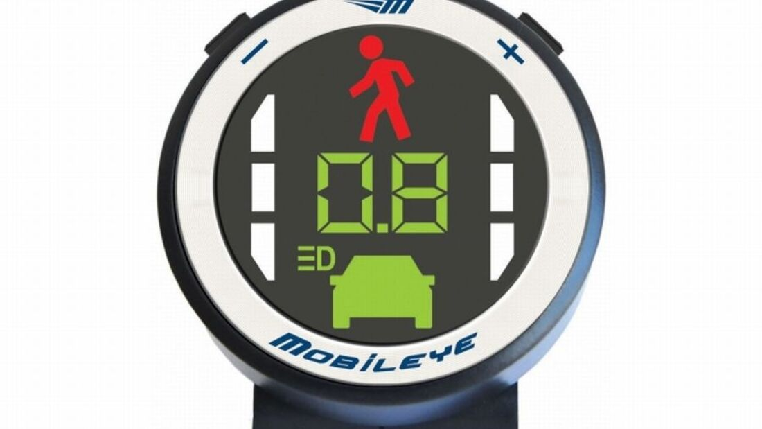 Fahrerassistenzsystem Mobileye C2-270 dient als Abstandswarner, Spurassistent und Kollisionsschutz für Arto und Flair