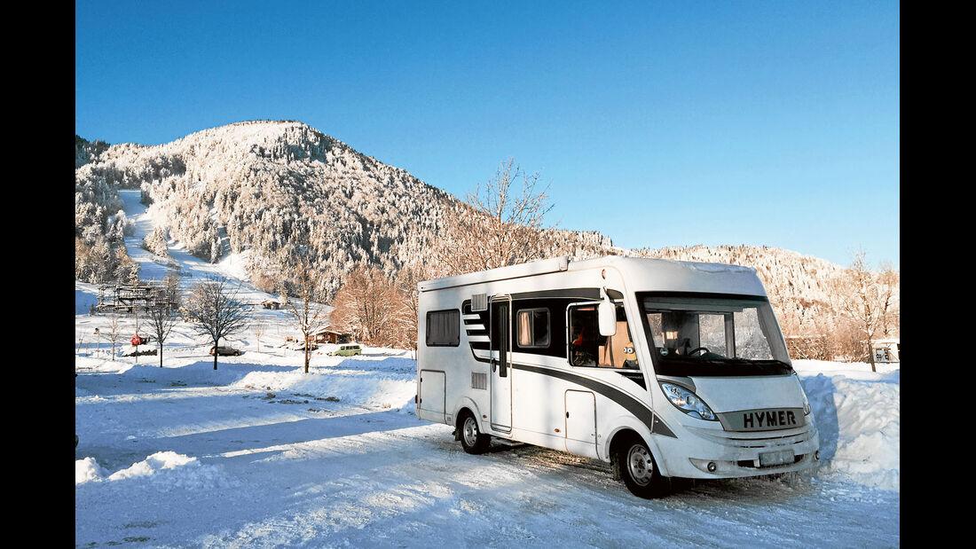 Familie Feldhoff war mit ihrem Reisemobil zum Skifahren in Lenggries.
