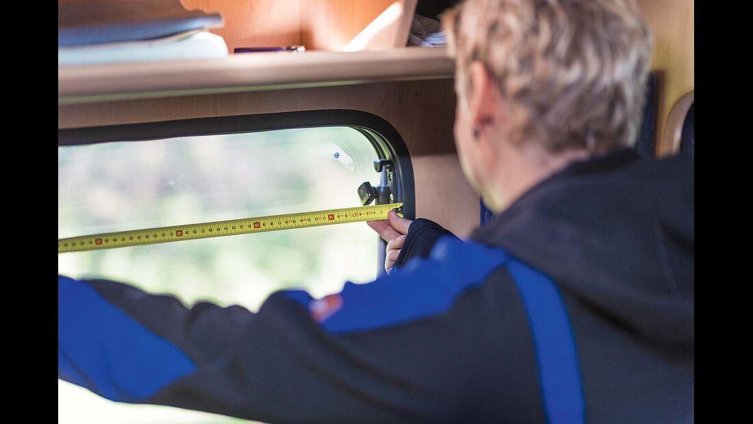 Fenster ausmessen im Reisemobil