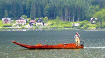 Fischer auf dem Hallstätter See