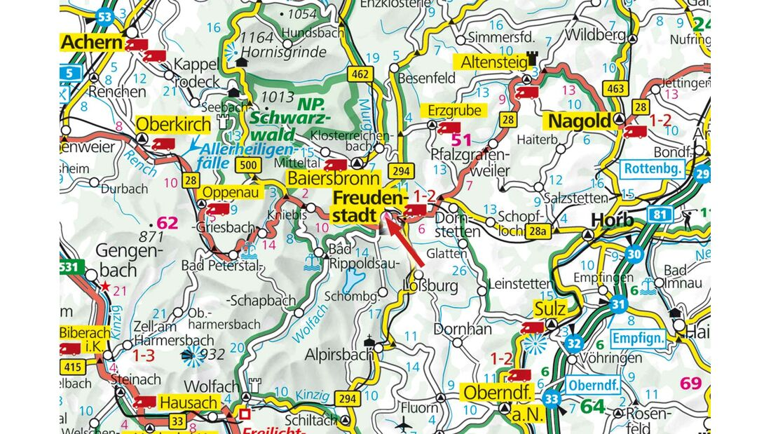 Freudenstadt liegt in Baden-Württemberg.