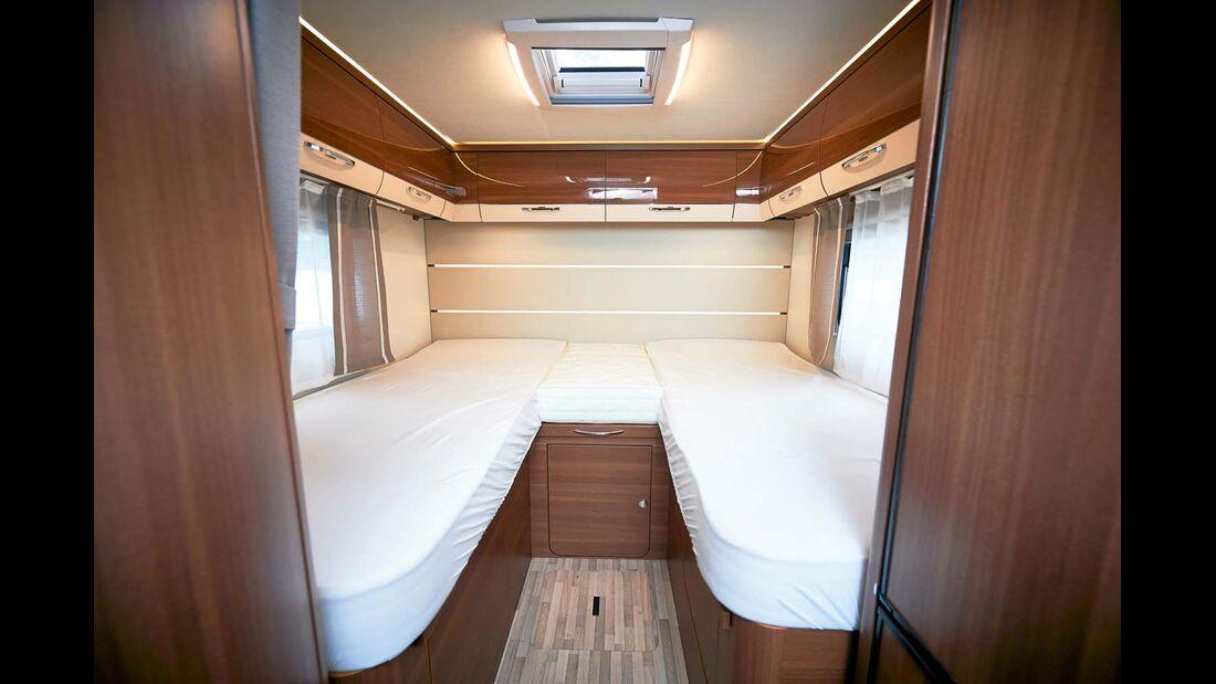 Für einen bequemen Einstieg liegen die Einzelbetten niedrig.