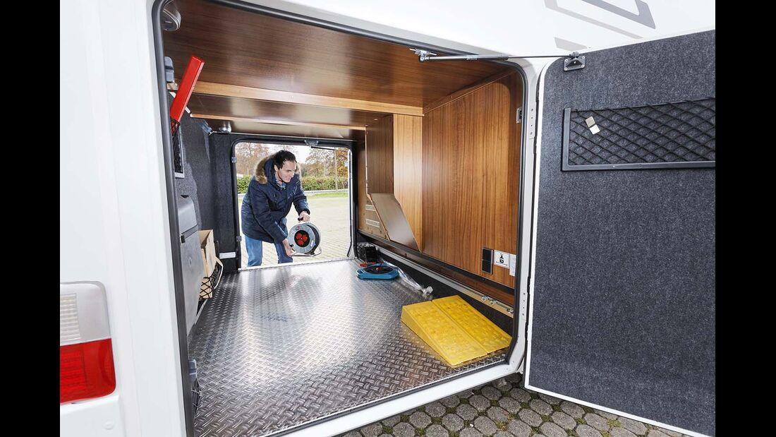 Garage beim Hymer B 678 Premium Line