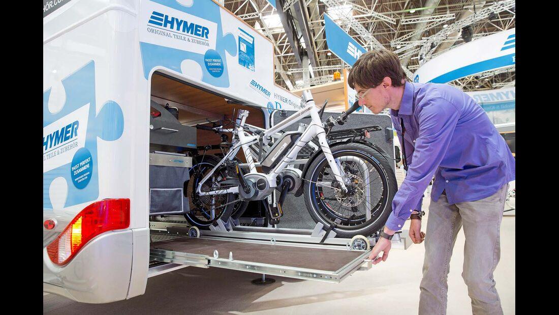 Garagensystem von Hymer nur für ausgewählte Reisemobile der Marke